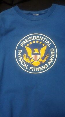 Presidential Physical Fitness Award T-Shirt, Blue - Hanes, X Large