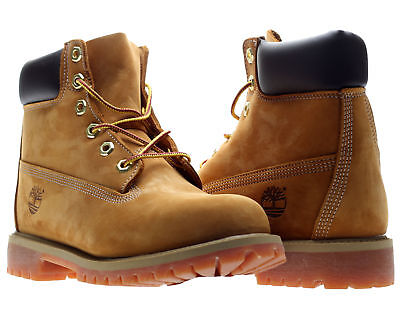 Timberland 6-Inch Premium Waterproof Wheat Nubuck Junior Big Kids Boots 12909
