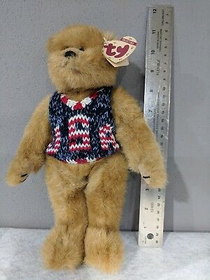 vintage Ty Attic Treasures bear 'Digby' style 6013 USA sweater 1993
