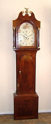 Beautiful Georgian Mahogany Longcase Clock with ultra rare Oval case door C1800