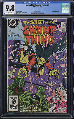 Saga of the Swamp Thing #27 CGC 9.8 White Pages Demon Appearance