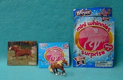 "Breyer Mini Whinnies Surprise Series 2 Chestnut ""joy"" Sliding Stop Qh New 16"
