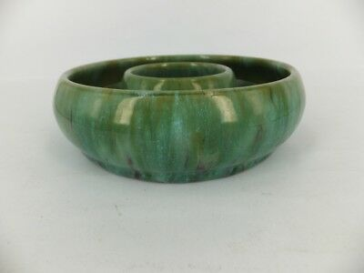Australian Pottery - Campbell possibly -  large circular float bowl A/F in green