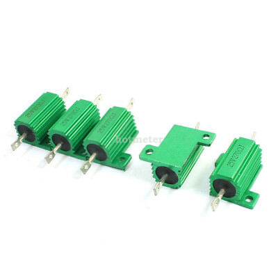 5 Pcs Green 270 Ohm 25W Axle Lead Aluminum Wire Wound Power Resistor 53x27x 15mm