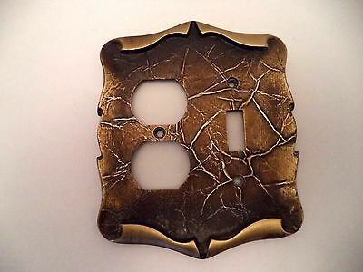 Amerock Carriage House vtg single switch duplex outlet combo plate cover 9085-1