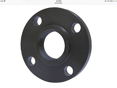 "3/4"" NPT Black Steel Flange Set of 2"