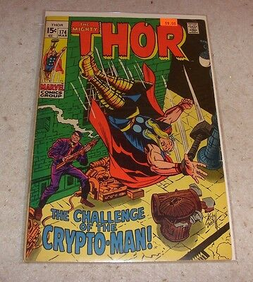 Thor #174 The Challenge of the Crypto-Man! (March 1970 Marvel)