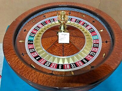 32 Inch Saturn Roulette Wheel (Used) #12037 Single 0 / 00
