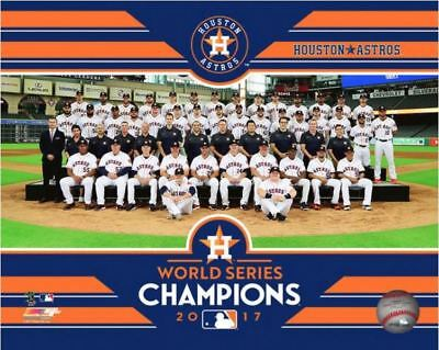 Houston Astros 2017 World Series Champions Sit Down 8x10 Official Team Photo