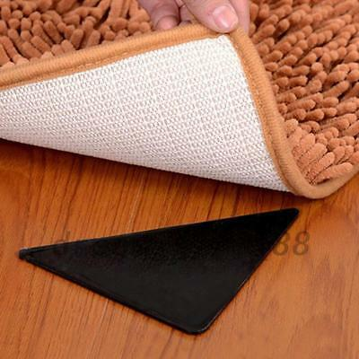 4pcs Rug Corners Anti Slip Self-adhesive Carpet Corner Gripper Pads Triangle Hot