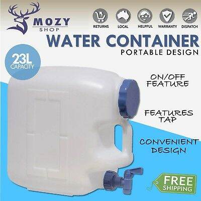 23L Water Container with Tap Bottle Dispenser Standing Bench Camping Hiking Home