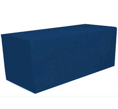 8' ft. Fitted Polyester Tablecloth Table Cover Wedding Banquet Party Navy Blue