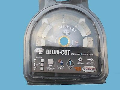 """Diamond Products Delux-Cut segmented dry/wet blade. 4.5"""" dia for hard materials"""