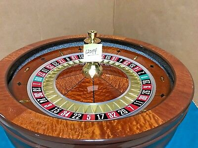 32 Inch Saturn Roulette Wheel (Used) #12044 Single 0 / 00