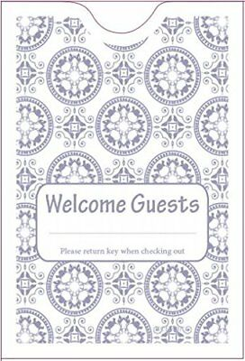 """Hotel Keycard Envelope/ Sleeve """" Welcome Guests"""" Gray 2-3/8"""" x 3-1/2"""" 1000/Box"""