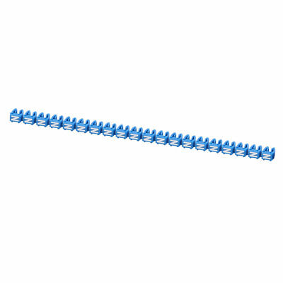 """20Pcs Letters """"N"""" Network Cable Labels Markers Blue for 3.0-4.0mm Dia Wire"""