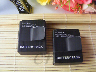 2X  1050mAh Li-ion AHDBT-201 AHDBT-301 Battery For GoPro Hero 3 Sports Camera