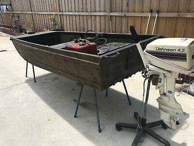 10ft Tinnie Boat Dinghie 4.5hp Engine Motor Camping Shooting Fishing Tinny