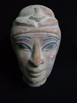 Rare Ancient Egyptian Head of Isis (380–362 BC)