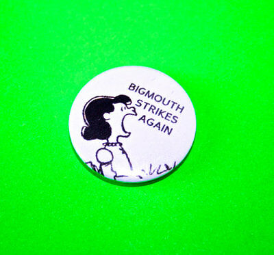 The Smiths Big Mouth Strikes Again Lucy Snoopy Peanuts Button Pin Badge