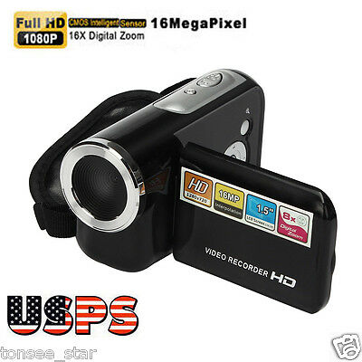 FHD 1080P 16M 16X TPT LCD Digital Zoom Video Recorder Camcorder Camera DV Cam Z