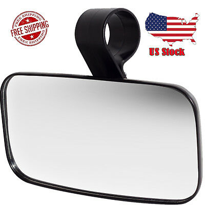 UTV Clear Rear View Center Mirror--High Impact Shatter-Proof Tempered Glass SE!!