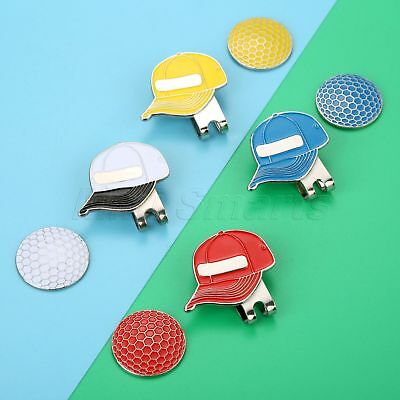 Outdoor Golf Cap Alloy Magnetic Hat Clip With Golf Ball Marker Great Hat Decor