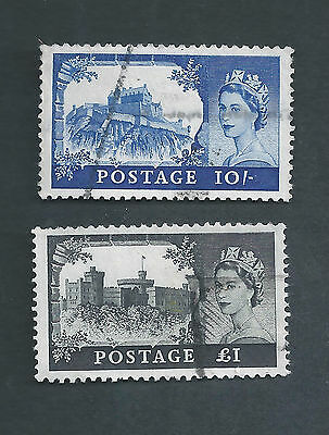 Great Britain Scotts # 527 & 528 used, CV 7.25