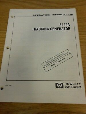 HP/Agilent 8444A Tracking Generator Operation Information Loc: 1