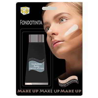 Fondotinta Fluido Marrone Per Trucco Teatrale Flacone Ml. 38 Make Up Per Bambini