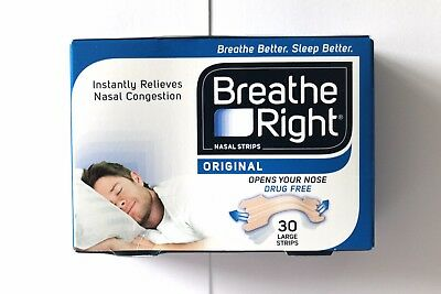 Breathe Right Original Nasal Strips - 30 Large Strips