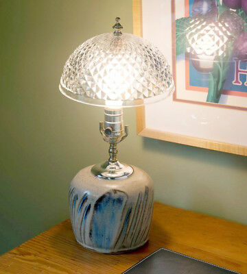 Evelots Clip On Shade for Ceiling Light Bulb or Lamp-Antique-Diamond Cut-Acrylic