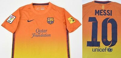 71521559d 2012-13 Nike Barcelona BARCA Away MESSI Shirt SIZE YOUTH L. BOYS 158cm