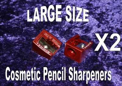 PENCIL SHARPENERS cosmetic FOR LARGE SIZED lg size sharpener eye lip pencil X2