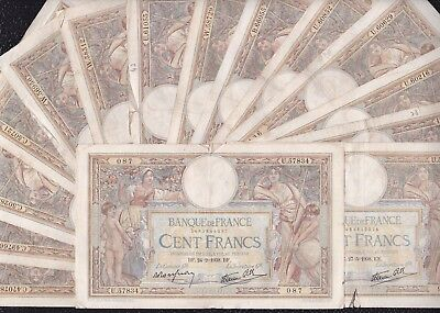 15 pcs of 100 Francs from France G5