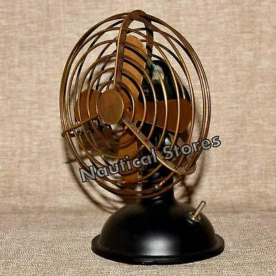 Handmade Antique Brass Fan Vintage Collectible Table Top Decorative Item