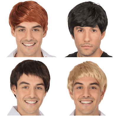 New Adult 60s 70s Boy Band Scottish Wig Fancy Dress Short Male Fringe Accessory
