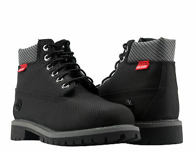 Timberland 6-Inch Premium Helcore Waterproof Black Youth Litte Kids Boots A1A7Z