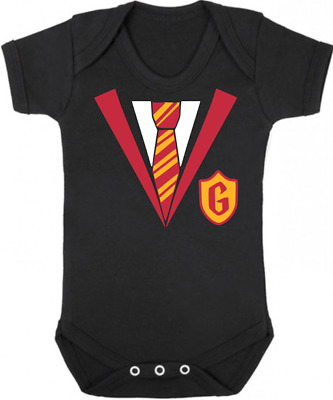 GRYFFINDOR UNIFORM New Baby Bodysuit/Grow/Vest, Newborn Gift Shower HARRY POTTER