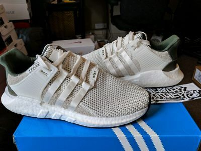 a4984e7c67b ADIDAS EQUIPMENT EQT Support Boost 93-17 Off White Olive Green BY9510  Primeknit
