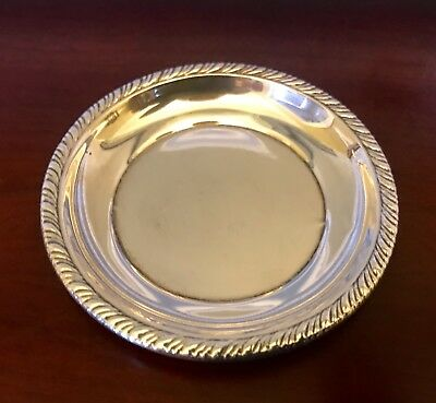 ANTIQUE Sterling Silver Butter Pat Tray Dish ART DECO VINTAGE