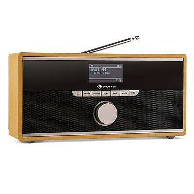 Internet Radio Bluetooth Streaming Legno Quercia Wlan Aux Dab Audio Idea Regalo