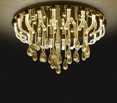 living room LED crystal lamp bedroom European style restaurant ceiling light Yc