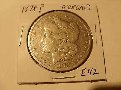 Nice 1878 Filled Mint Mark  Nice  Morgan Silver Dollar Look at Pictures (E42)