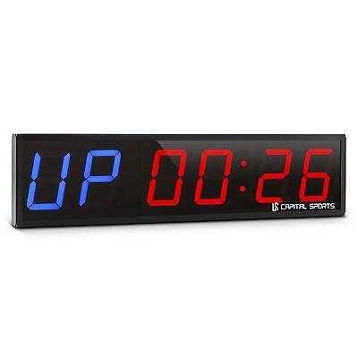 Cross Training Fight Countdown Stopwatch Tabata Timer Blue / Red Led Remote
