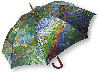 LaSelva Designs Stick Umbrella - Monet Garden At Giverny