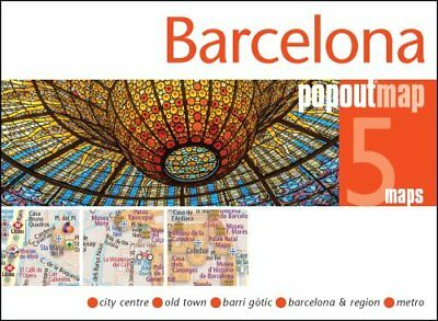 Barcelona PopOut Map by PopOut Maps 9781910218419 (Sheet map, folded, 2017)