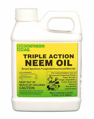 Triple Action Neem Oil 16 oz Organic Insecticide Fungicide Miticide Southern Ag