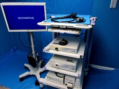 Olympus CV-160 /CLV 160 OEV261H Flexible Processor CFQ160AL Colonoscope TESTED