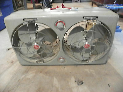 VTG Deco  General Electric GE Thermostat Dual Directional Window Fan ALL METAL